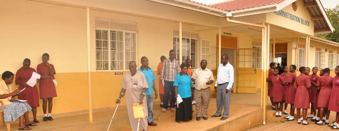 Members of the accesibility audit team inspect a public facility during the exercise.