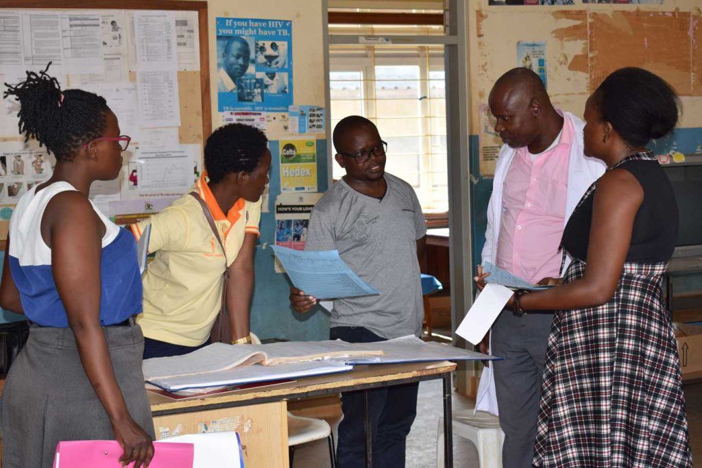 MEL manager (IDIWA) orienting Kamuli General Hospital on tool that capture disability data